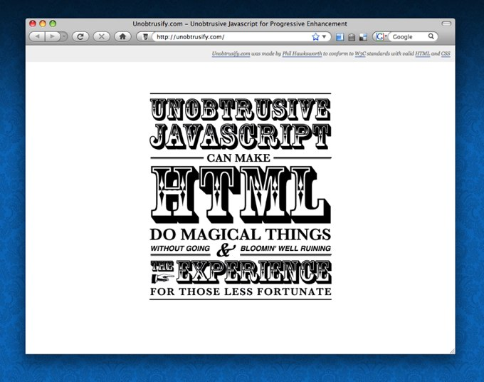 Unobtrusify your Javascript