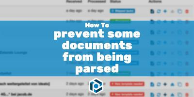Cover image for How to prevent some documents from being parsed
