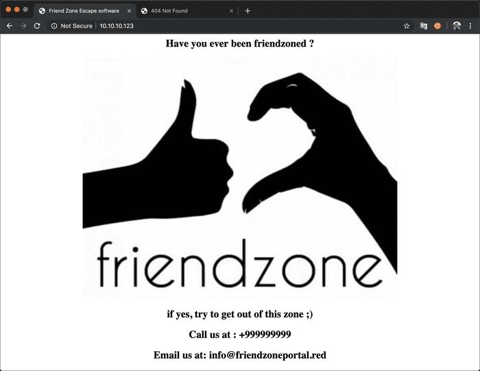 FriendZone web