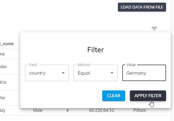 Apply Filter