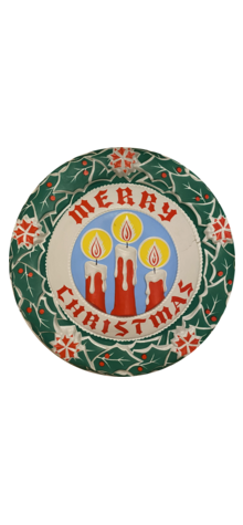 """""""Merry Christmas"""" Candle Wreath photo"""