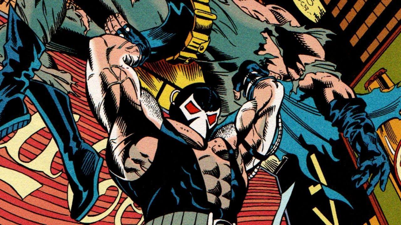 Bane quebra o Batman em A Queda do Morcego