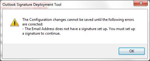 email signature app error
