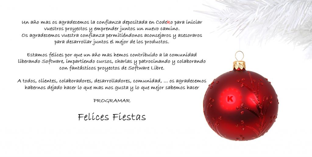 Codeko les desea Felices Fiestas