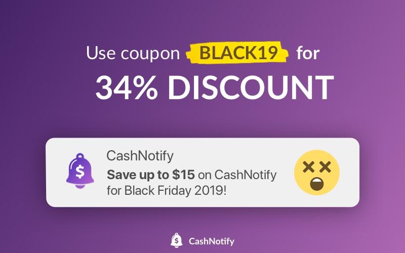 Black Friday deal on CashNotify