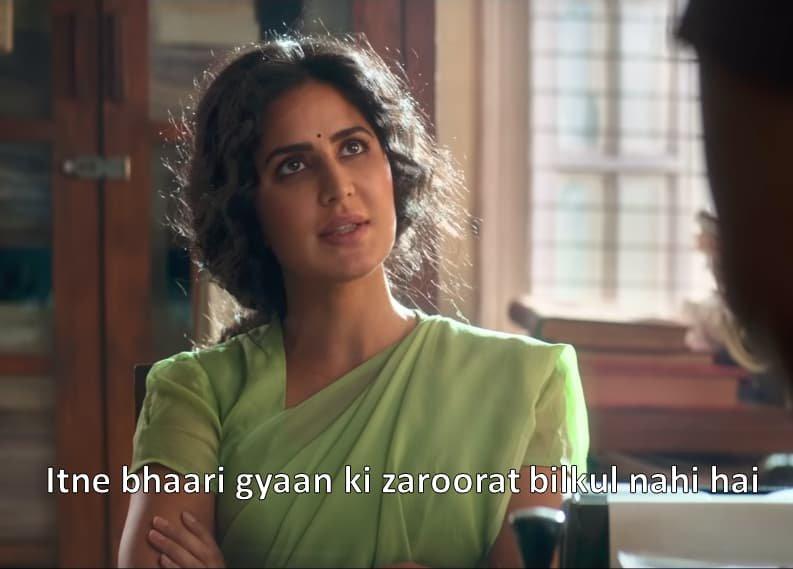 Katrina Kaif in Bharat Trailer Itne bhaari gyaan ki zaroorat blikul nahi hai