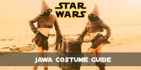 Jawas the little creatures from Tatooien, are always wearing their brown robes with pointy hoods, gloves and utility belts equipped with all sorts of tools to deal with droids