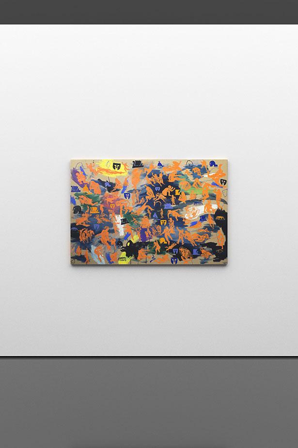 Arcadian figures, 2019        oil on canvas        100 × 120 cm