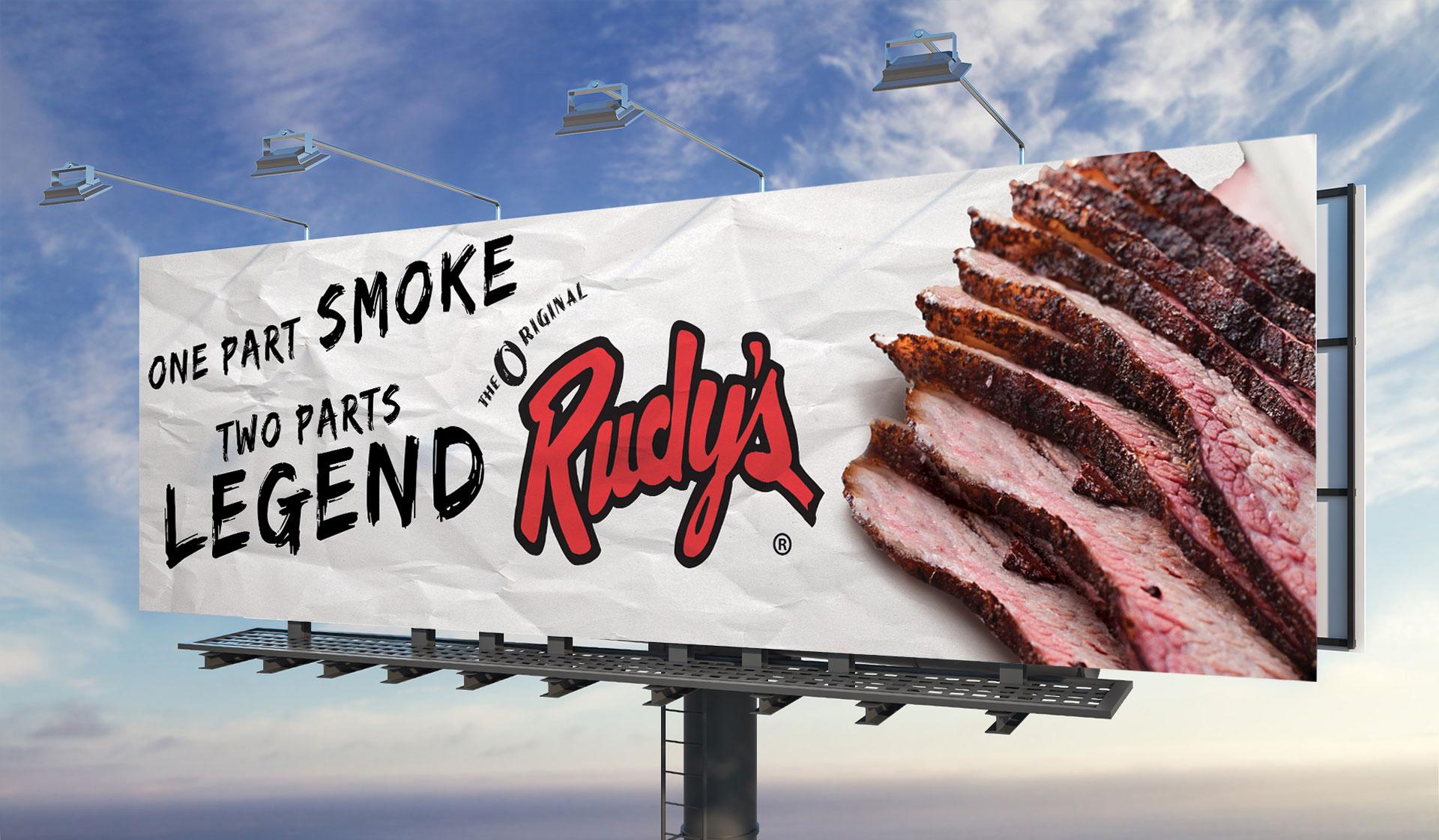 Rudy's Restaurant Billboard