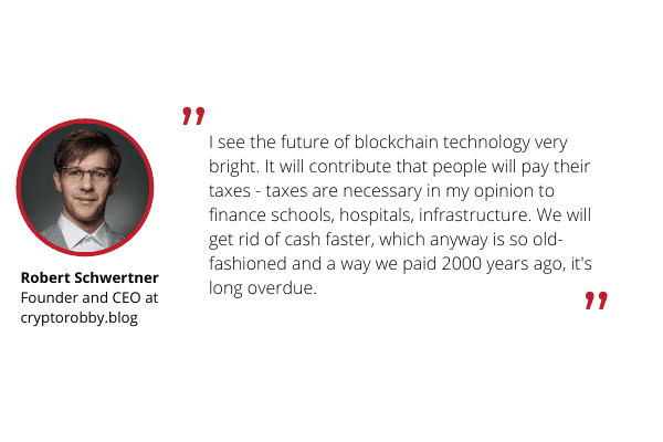 Robert Schwertner - commenting on blockchain for Ulam Labs.