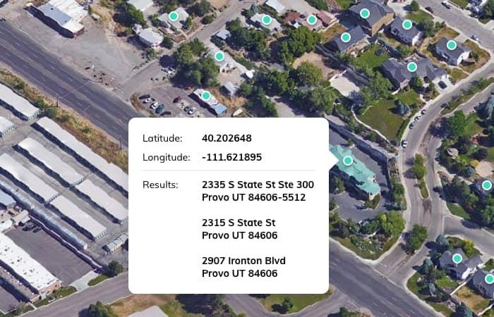 SmartyStreets Address Validation for Reverse Geocoding