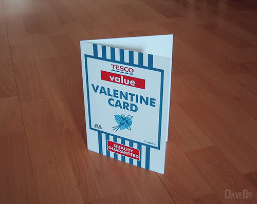 Tesco Value Valentine's Day Card