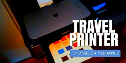 This travel printer gives you the convenience of printing anywhere, anytime. The print quality is great while using minimal ink.