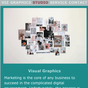 Image of Visual Graphics Webpage