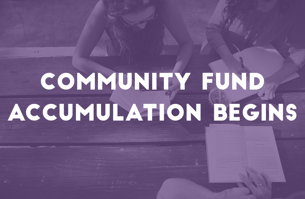 Community Fund Accumulation Begins