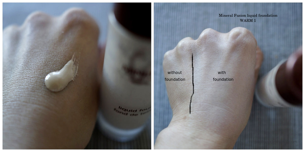 Mineral Fusion Foundation Warm 1 Swatch