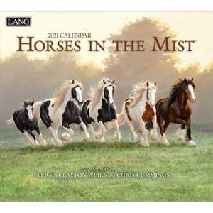 Lang Calendar 2021 Horses in the Mist