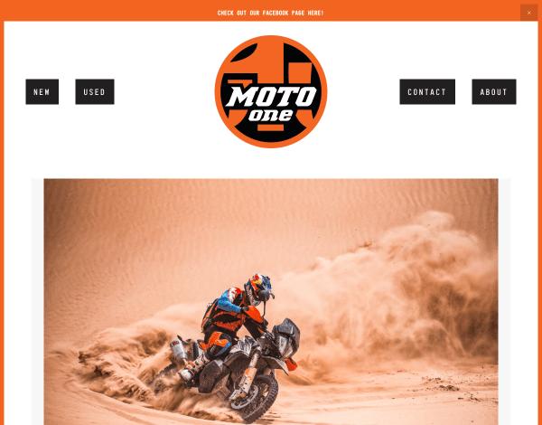 Moto One KTM Website Screenshot