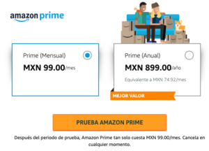 Costos de Amazon Prime