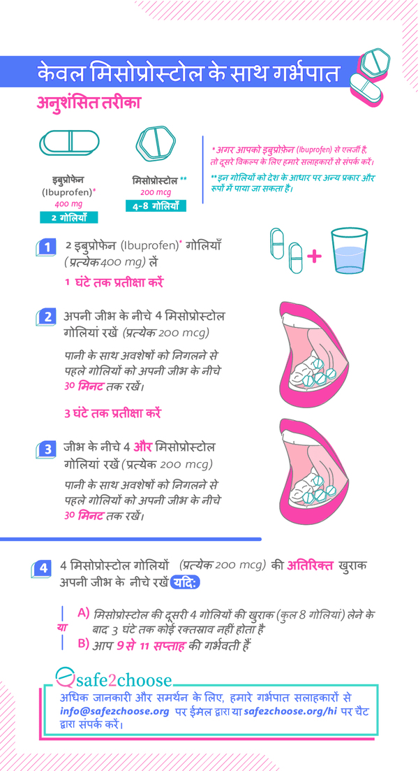 गर्भपात के लिए मिसोप्रोस्टोल का उपयोग कैसे करें