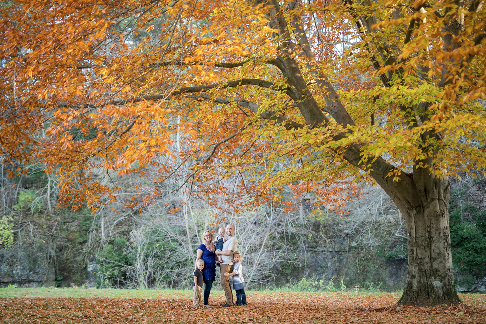 Weaver Family under the fall colors