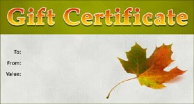 Gift Certificate Template Autumn 01