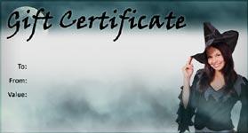 Gift Certificate Template Halloween 01