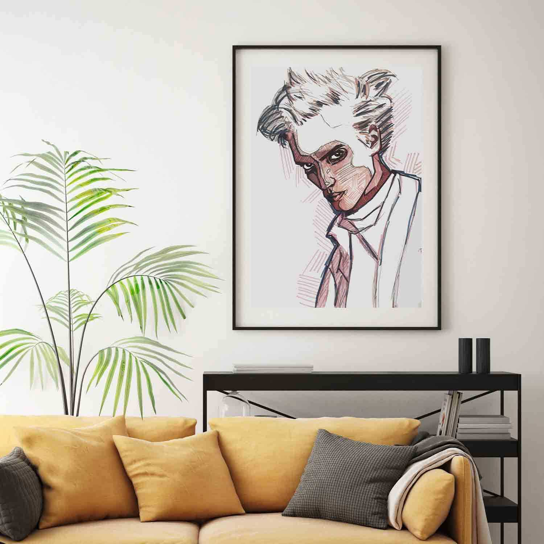 'Egon' Giclée Art Print