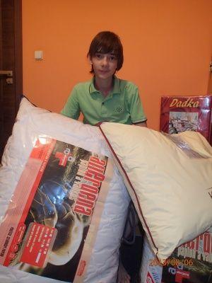 Poděkování za novou postel a lůžkoviny