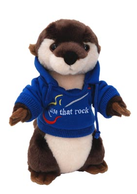 "The Petting Zoo: 10"" Hoodie River Otter"