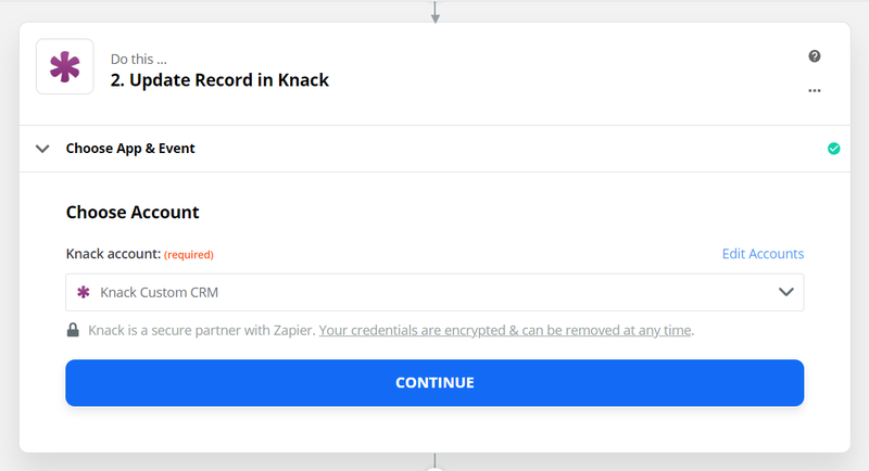 Choose your knack account