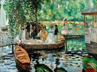 Renoir's La Grenouillere (the Frogpond) is remarkably similar to Monet's work of the same name.