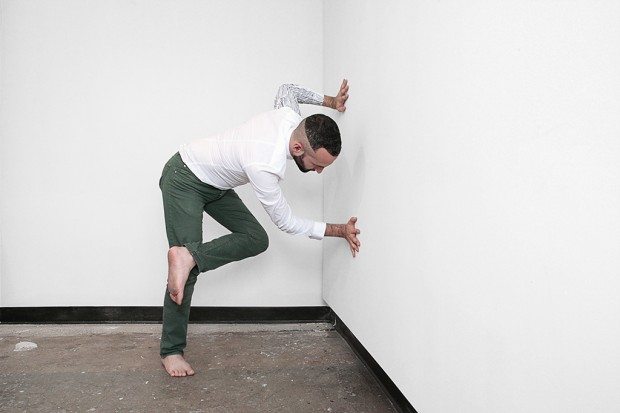 study for The Ballad of _____ B (2013). Performance for the camera. Photograph by Manolo Lugo.