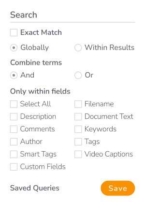 Canto search options