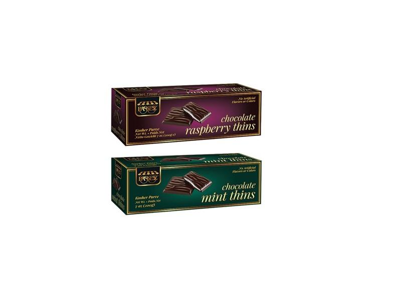 Paskez Chocolate Mint/Raspberry Thins (200g)