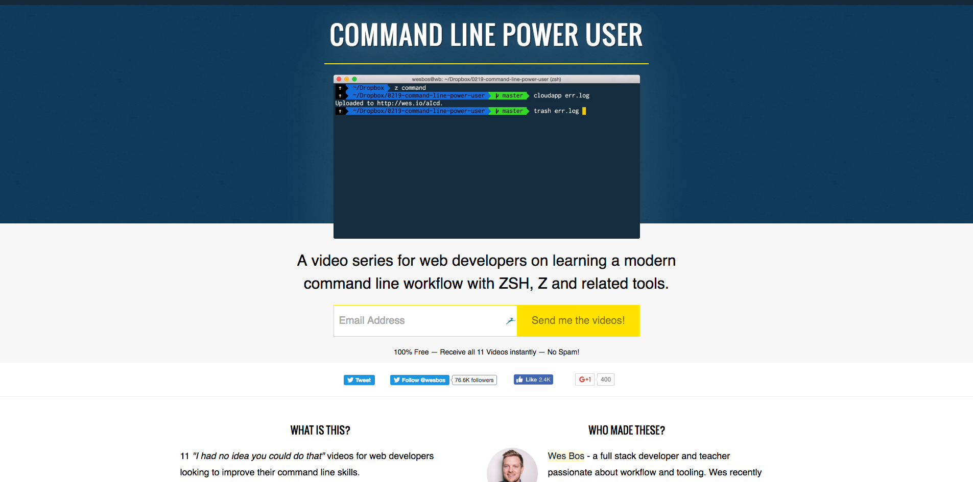 Wes bos command line power user