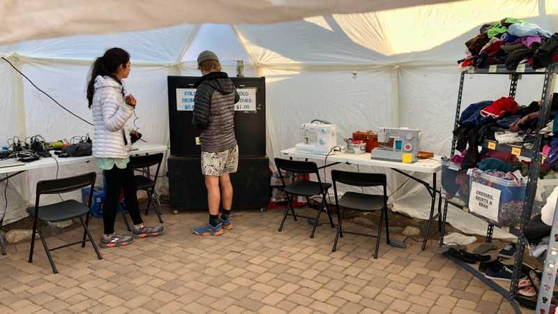 Hiker Heaven recharge and repair tent