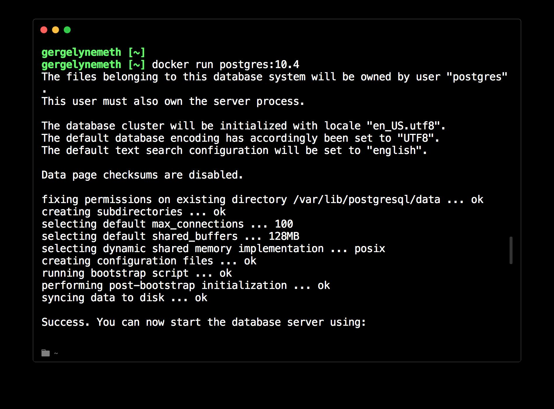 Docker with PostgreSQL