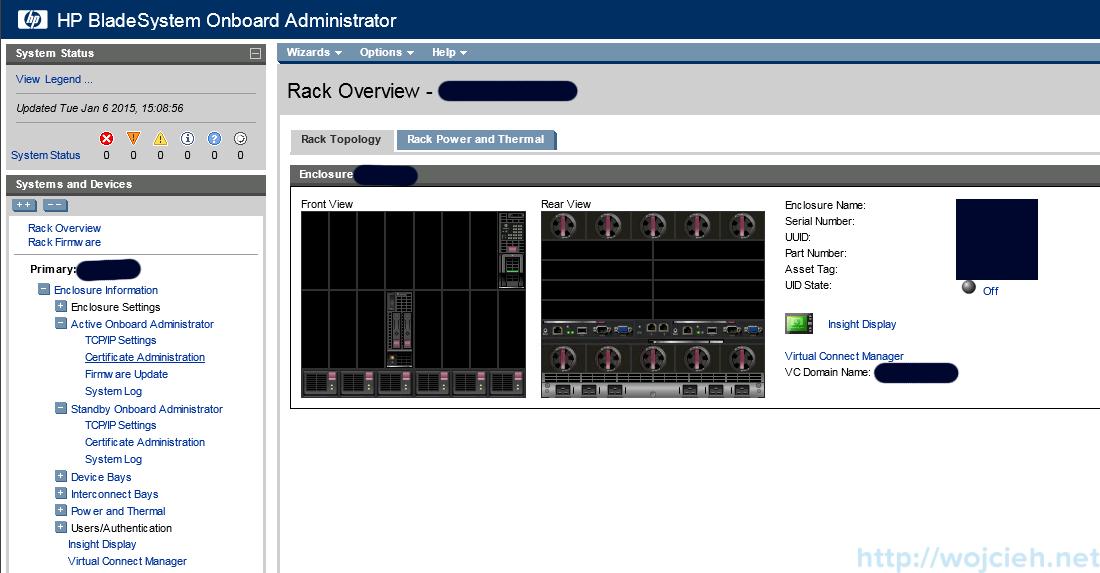 P c7000 Onboard Administrator firmware update 2