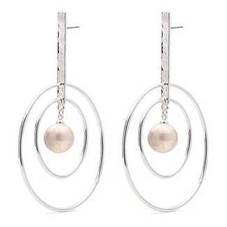 Pilgrim Double-O Irregular Freshwater Pearl Earrings