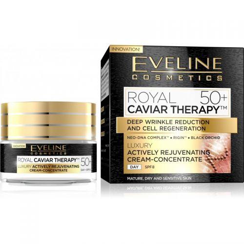 EVELINE ROYAL CAVIAR THERAPY 50+ LUXUS BŐRFIATALÍTÓ KRÉM-KONCENTRÁTUM ARCRA 50 ml | Eveline Cosmetics