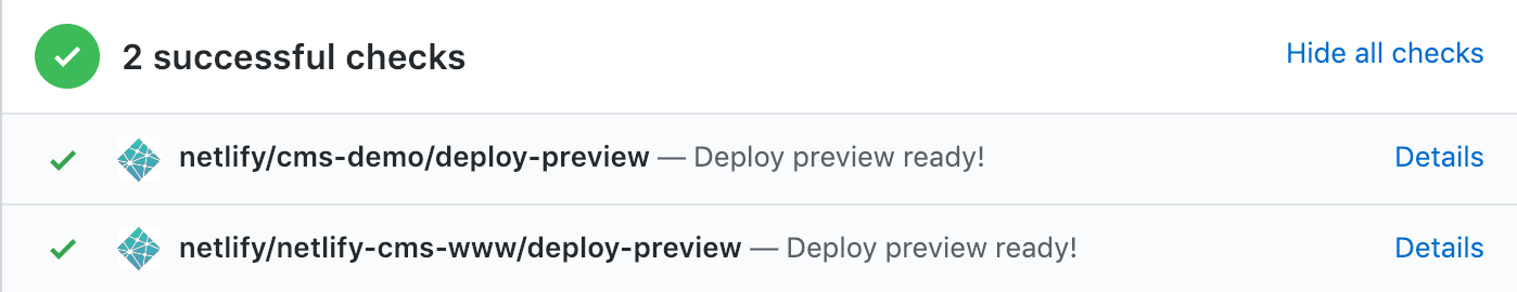 netlify deploy preview