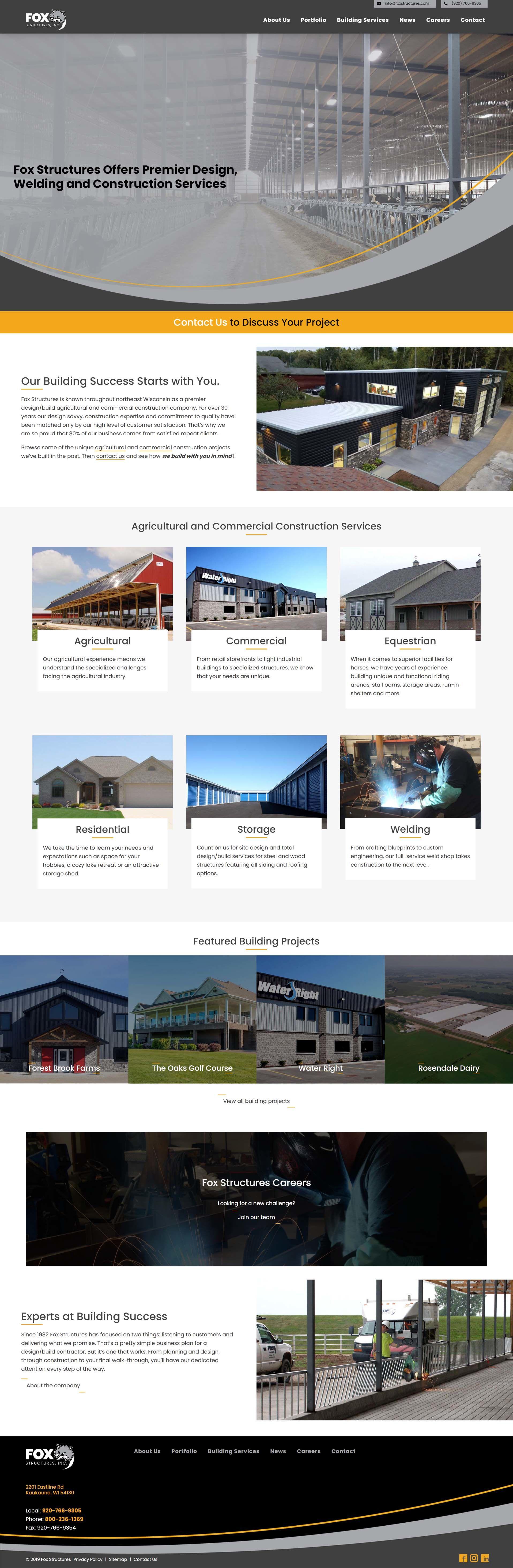 Fox Structures new website design