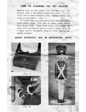 Union Products Toy Soldier Instruction Manual preview