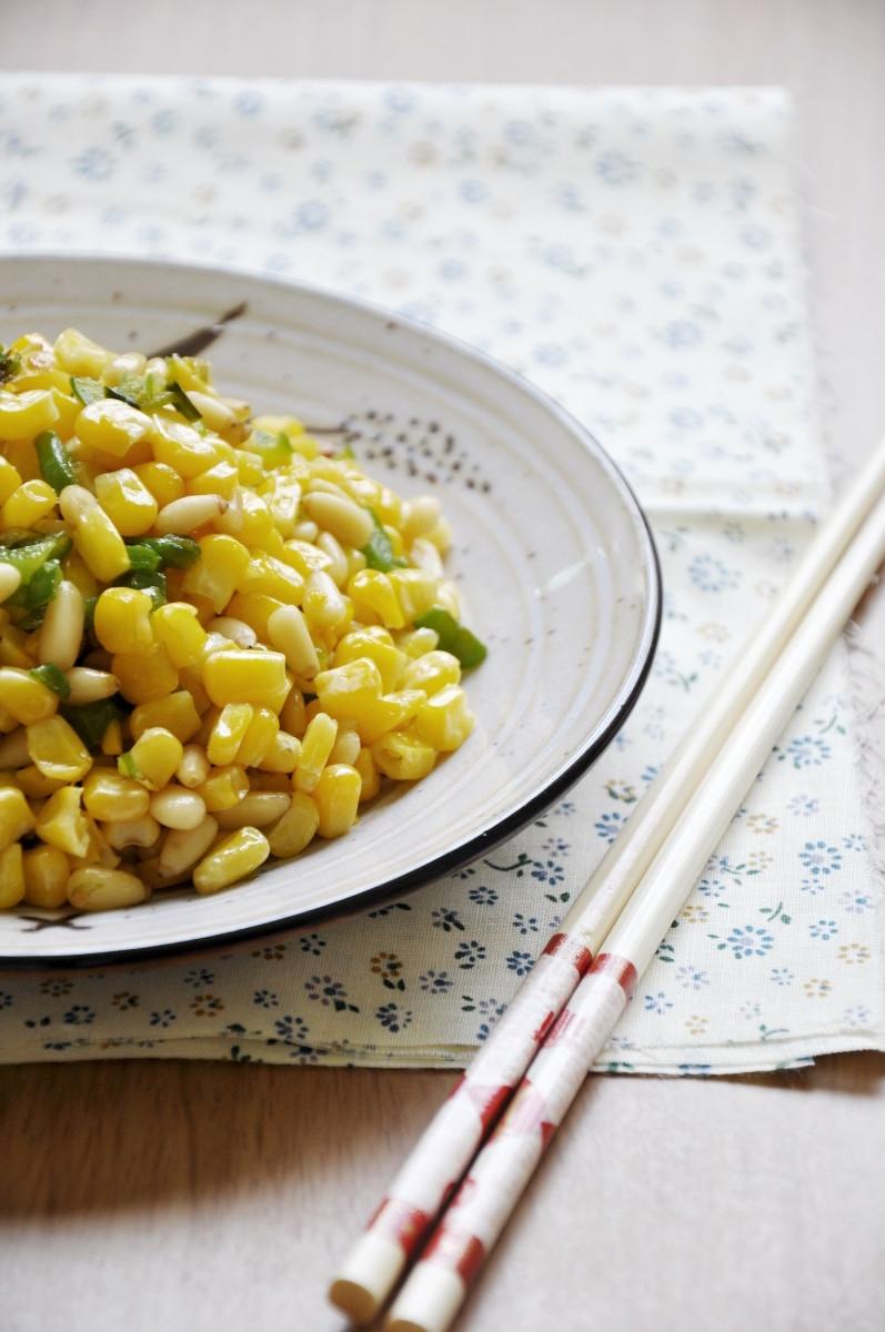 Corn with Pinenuts