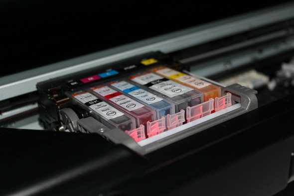 printerinkt naast elkaar in printer