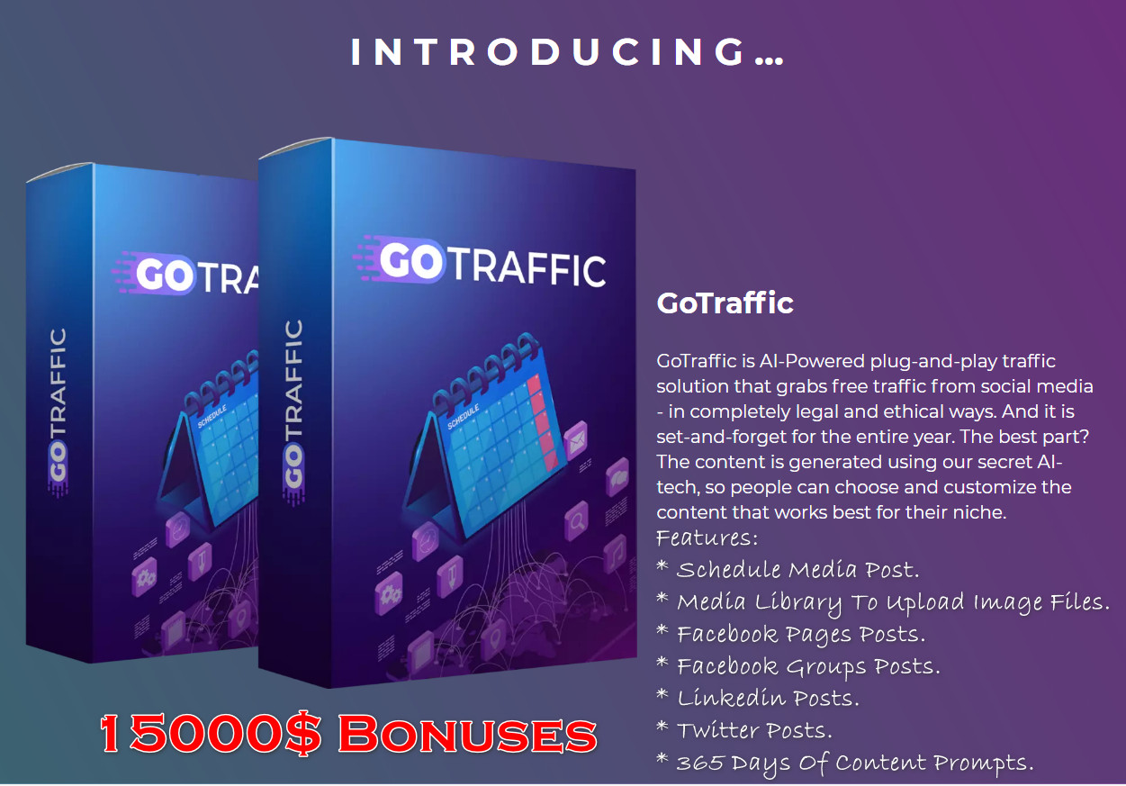 Best Social Media Traffic Generator (GoTraffic) Review 2021 + 15000$ Bonuses