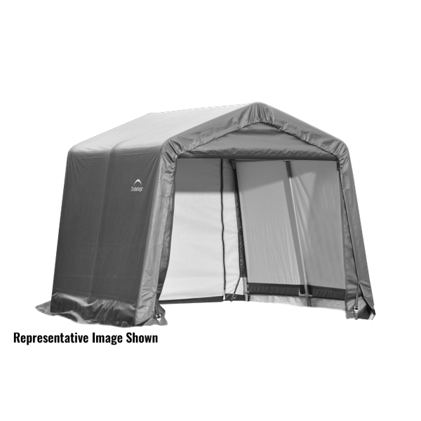 10x8x8 Round Shelter Grey Colour