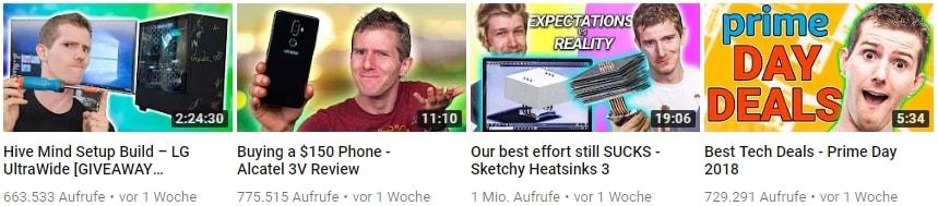 Youtube Thumbnail Beispiele