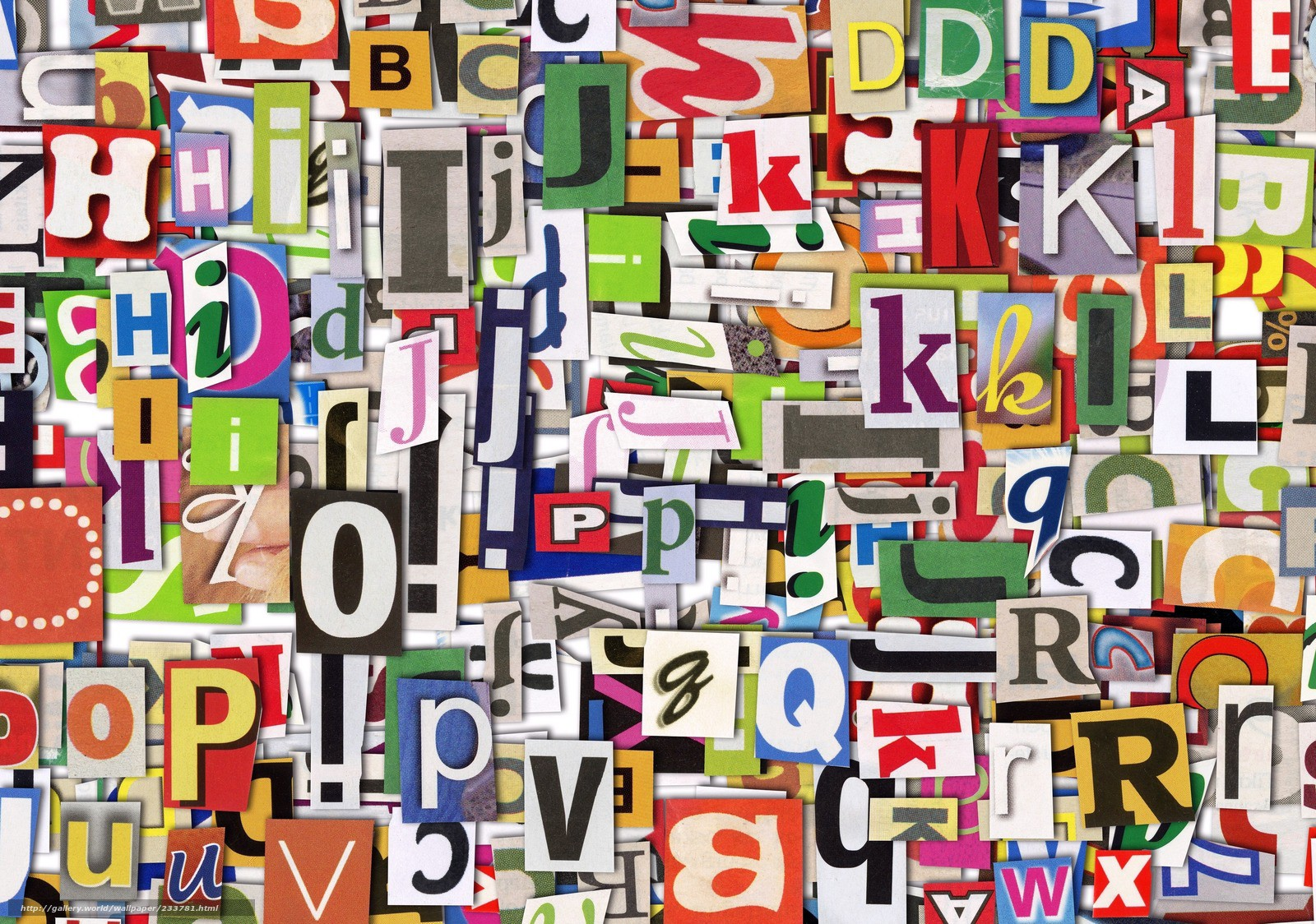 Imagem de várias letras e palavras simbolizando diversos idiomas